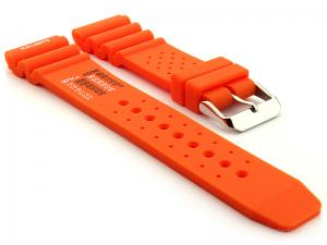 Citizen / Seiko Silicone Rubber Watch Strap Pro Waterproof Orange 03