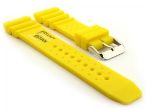 Citizen Seiko Style Silicone Watch Strap PRO Waterproof N.D.LIMITS Yellow 22mm