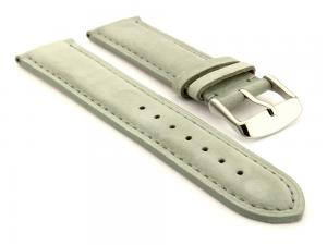 Suede Genuine Leather Watch Strap Teacher Grey 18mm