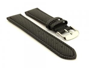 Synthetic Waterproof Watch Strap Toulon Black 20mm