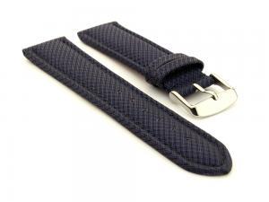 Synthetic Waterproof Watch Strap Toulon Blue 20mm