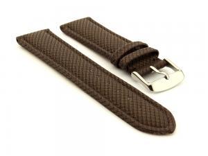 Synthetic Waterproof Watch Strap Toulon Dark Brown 18mm