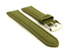 Synthetic Waterproof Watch Strap Toulon Green 18mm
