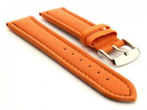 Polyurethane Waterproof Watch Strap Orange 18mm