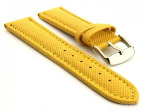 Polyurethane Waterproof Watch Strap Yellow 24mm