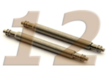 10 x Telescopic Ss. Double Flange Spring Bar Diameter 1.78mm - Width 12mm