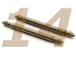10 x Telescopic Ss. Double Flange Spring Bar Diameter 1.78mm - Width 14mm