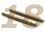 10 x Telescopic Ss. Double Flange Spring Bar Diameter 1.78mm - Width 18mm