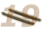 10 x Telescopic Ss. Double Flange Spring Bar Diameter 1.78mm - Width 19mm