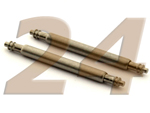 10 x Telescopic Ss. Double Flange Spring Bar Diameter 1.78mm - Width 24mm