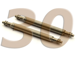 10 x Telescopic Ss. Double Flange Spring Bar Diameter 1.78mm - Width 30mm