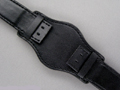 Leather Watch Strap BUND Style Black 22mm