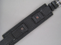 Leather Military Watch Strap DAKAR Black 20mm