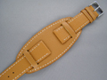 Leather Watch Strap MONTE Brown 22mm