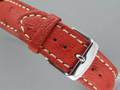 Genuine OSTRICH Skin Watch Strap Red 22mm