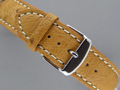 Genuine OSTRICH Skin Watch Strap Brown 22mm