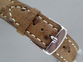 Genuine OSTRICH Skin Watch Strap Dark Brown 24mm