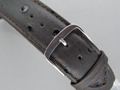 Leather Watch Strap OSTRICH-LOOK Dark Brown 20mm