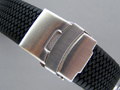 "Silicone Waterproof Watch Strap ""Tyre Summer"" Clasp Black 22mm"