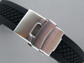 "Silicone waterproof Watch Strap ""Tyre Winter"" Clasp Black 20mm"