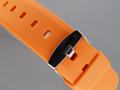 Silicone Waterproof Watch Strap Orange 22mm