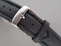 Polyurethane Waterproof Watch Strap Black 24mm