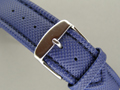 Polyurethane Waterproof Watch Strap Blue 22mm