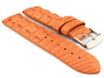 Genuine Alligator Leather Watch Strap FLORIDA Orange 18mm
