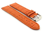 Leather Watch Strap CROCO RM Orange/Orange 28mm
