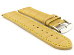 Leather Watch Strap CROCO RM Yellow/Yellow 28mm