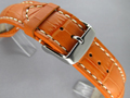 Leather Watch Strap CROCO VIP Orange 22mm