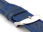Padded Watch Strap Genuine Leather FREIBURG VIP Blue/Blue 24mm