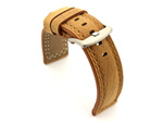 Waterproof Leather Watch Strap Galaxy Brown 26mm