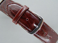 Leather Watch Strap MALIBU Maroon 20mm