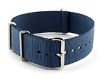 NATO G10 Watch Strap Military Nylon Divers (3 rings) Navy Blue 20mm