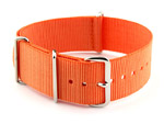 NATO G10 Watch Strap Military Nylon Divers (3 rings) Orange 24mm
