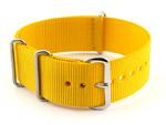 NATO G10 Watch Strap Military Nylon Divers (3 rings) Yellow 20mm