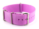 NATO G10 Watch Strap Military Nylon Divers (3 rings) Lilac 22mm