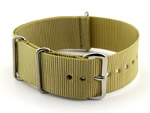 NATO G10 Watch Strap Military Nylon Divers (3 rings) Light Green 24mm