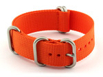 22mm Orange - Nylon Watch Strap / Band Strong Heavy Duty (4/5 rings) Military