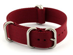 18mm Maroon - Nylon Watch Strap / Band Strong Heavy Duty (4/5 rings) Military