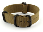 22mm Desert Tan - Nato Nylon Watch Strap Strong Heavy Duty (4/5 rings) PVD