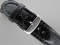 Leather Watch Strap ODEON Black / Black 22mm
