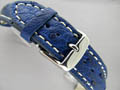 Genuine OSTRICH Skin Watch Strap Blue 22mm