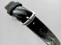 Leather Watch Strap OPEN-ENDED Black 16mm