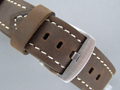 Leather Watch Strap PANOR Dark Brown 22mm