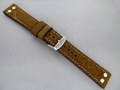 Leather Watch Strap AVIATOR Style Brown 20mm