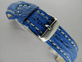 Genuine SHARK Skin Watch Strap Blue 24mm