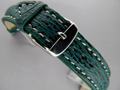 Genuine SHARK Skin Watch Strap Green 22mm