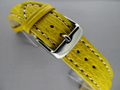 Genuine SHARK Skin Watch Strap Yellow 24mm
